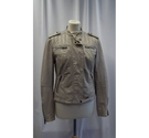 SuperDry Leather Jacket Beige Size: M