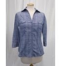 Laura Ashley Fitted Shirt Blue Size: 8