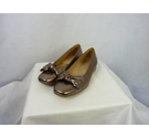 Gabor flat shoes gold Size: 5.5