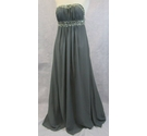 Unbranded strapless evening dress grey Size: L