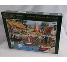 Falcon De Luxe 1000 piece Jigsaw - A Busy Time on the Canal