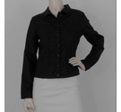 Next Casual Leather Look Jacket Black Size: 12