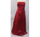 Alfred Angelo strapless evening dress burgundy Size: M