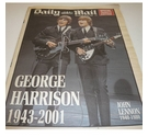 Daily Mail : Saturday December 1, 2001 : Special Tribute Edition : George Harrison