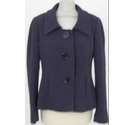 Planet Jacket with Button Detail Purple Size: 10