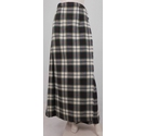 Scott the Kiltmaker of Aberden Wrap-Around Long Wool Kilt Cream/Green Size: M