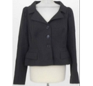 L K Bennett Cropped Jacket with Ruching Black Size: 16