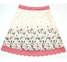 Lindy Bop A-Line Graphic Print Skirt Pink/Cream Size: 14