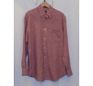Orvis Signature Collection Med Weight Linen Shirt Red Check Size: M