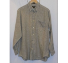 Orvis Signature Collection Med Weight Linen Check Shirt Olive Green Size: M