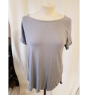 M&S Collection Short Sleeve Circle Neckline Grey Size: 10