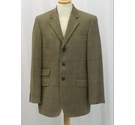 Toggi Checked Tweed Jacket Olive Green Size: M