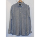 Orvis Signature Collection Med Weight Linen Shirt Blue Check Size: M