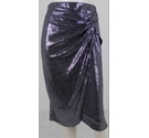 BNWT Lipsy London Sequin Knee-Length Skirt Black/Sliver Size: 16