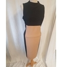 Next Sleeveless Pencil Dress Black and Brown Size: 14