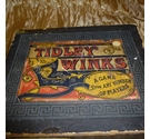 Vintage and well loved set of tidley winks in a box