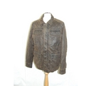 Fat Face heavy cotton blend jacket bomber quilted faded distress brown Size: M