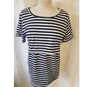 Unbranded Short Sleeve T-Shirt Black and White Size: S