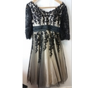 BNWT JJs House Occasion or Wedding Dress in Cream & Black Size: M