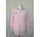 Crew Clothing natural retreat classic fit smart shirt collar pink white navy Size: L