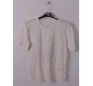 NWOT M & S Per Una Embroidered T-Shirt Cream Size: 10