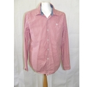 Fat Face check plaid gingham loose shirt collared smart red white soft Size: XL