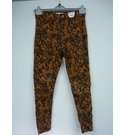 Topshop Snake Print Jeans Rust Size: 40""