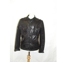Solid Jeans soft leather bomber safari jacket utility black Size: L