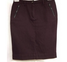 Autograph straight skirt with zip pocket mahogany Size: 12