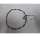 Sterling Silver 925 Trace Chain and Padlock Bracelet