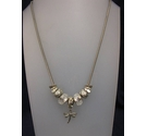 Silver Bead Dragonfly Necklace