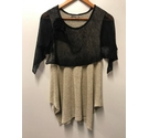 Kamuflage Linen top black and beige Size: M