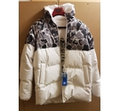 Adidas down hooded puffer jacket white grey Size: L