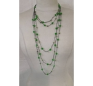 Emerald green plastic bead necklace