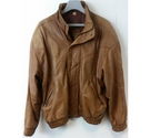 True Vintage AYM Speciale Leather Blouson Jacket in Light Brown Size: XL