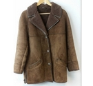 The Sheepskin Warehouse Natural Lambskin Jacket in Rich Brown Size: L
