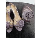 Clarks set of evening shoes and bag dusty lilac Size: 6