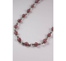 Speckled Pink Beaded Necklace