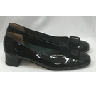 John Lewis Patent Leather 60s Mod Aurora Court Shoes Black Size: 4