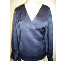 M&S Collection v necked blouse navy blue Size: 22