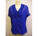 Style By EWM short sleeved blouse blue Size: 14
