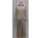 M&S Marks & Spencer Trouser and Jacket Suit Cream Size: 14