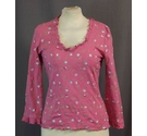 Boden- Floral Top- Pink- Size: 8
