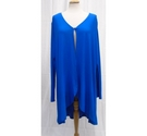 Antthony Long Waterfall Top Blue Size: XL