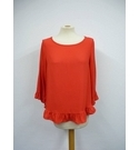 Gap Ruffle Top Red Size: S