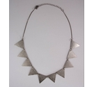 Triangle Stamped Necklace