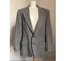 Harris Tweed Tailored Jacket in Grey Size: L