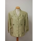 Silkland Pure Silk Suit Jacket Green Size: 8
