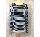 Polo Ralph Lauren Fine knit cotton top Navy and white Size: L