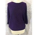 Phase Eight Batwing sparkle top Purple Size: S